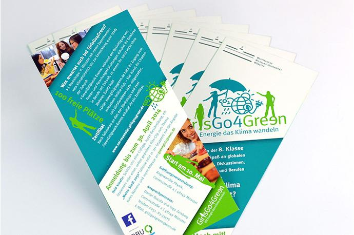 Flyer GirlsGo4Green, für Girls der 8. Klasse