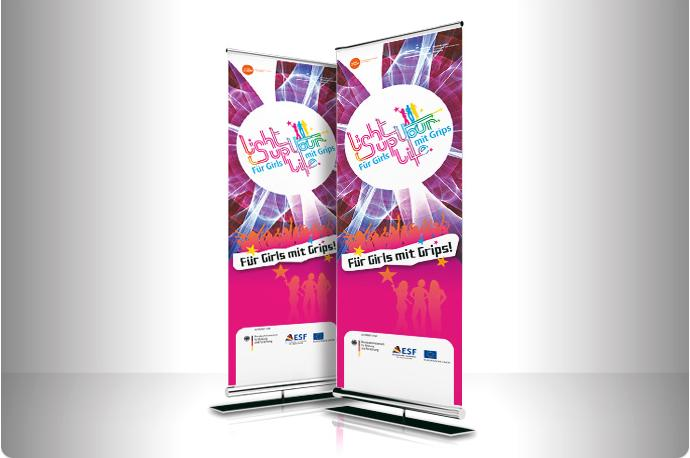 Roll-up Banner Light up Your Life